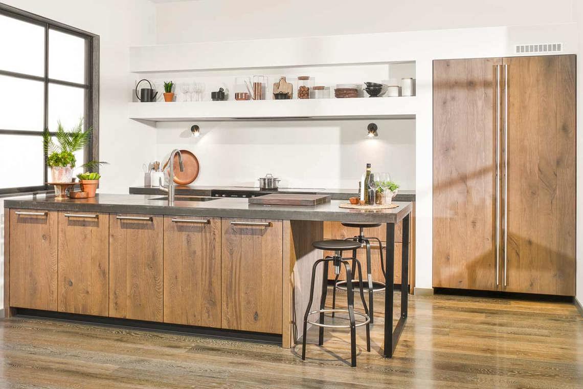 Beroemd Houten keuken met beton? Lees blog vol inspiratie en voorbeelden #VB16