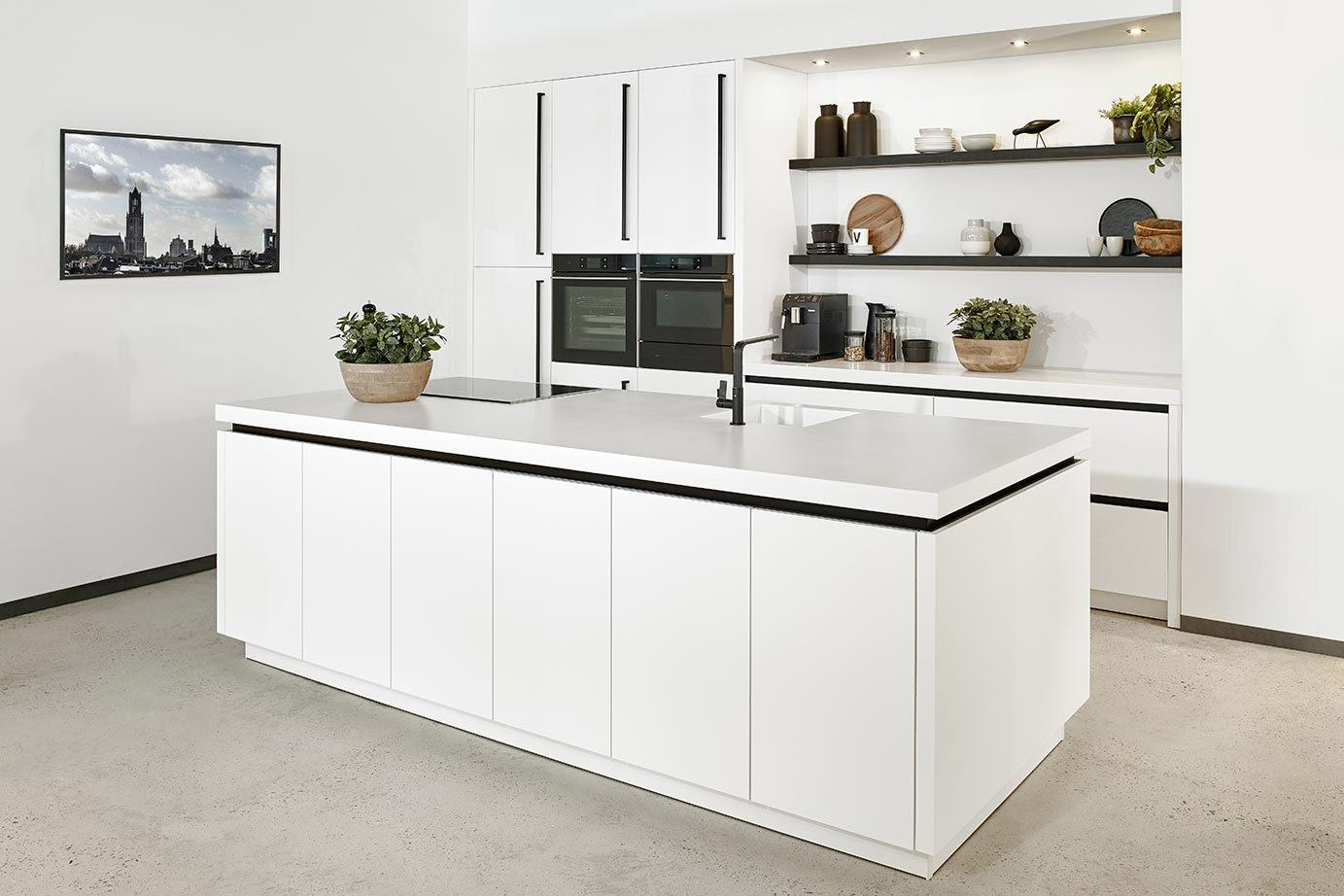 Moderne Eilandkeuken Wit
