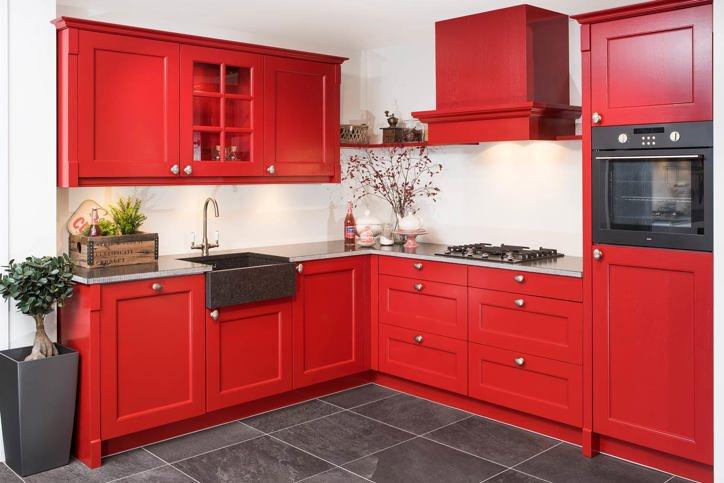 Rode keukens kopen bekijk 50 voorbeelden met prijs db for Landelijke kleuren verf