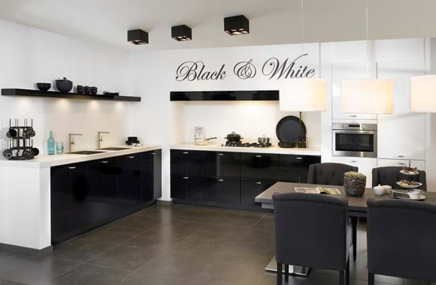 Design keuken in hoekopstelling