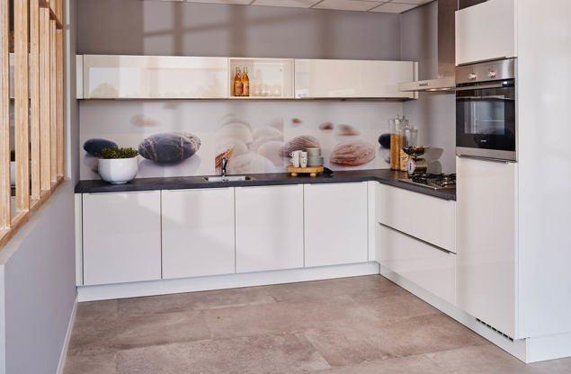 Hoogglans keuken chique modern hip bekijk voorbeelden db keukens - Deco keuken chique platteland ...