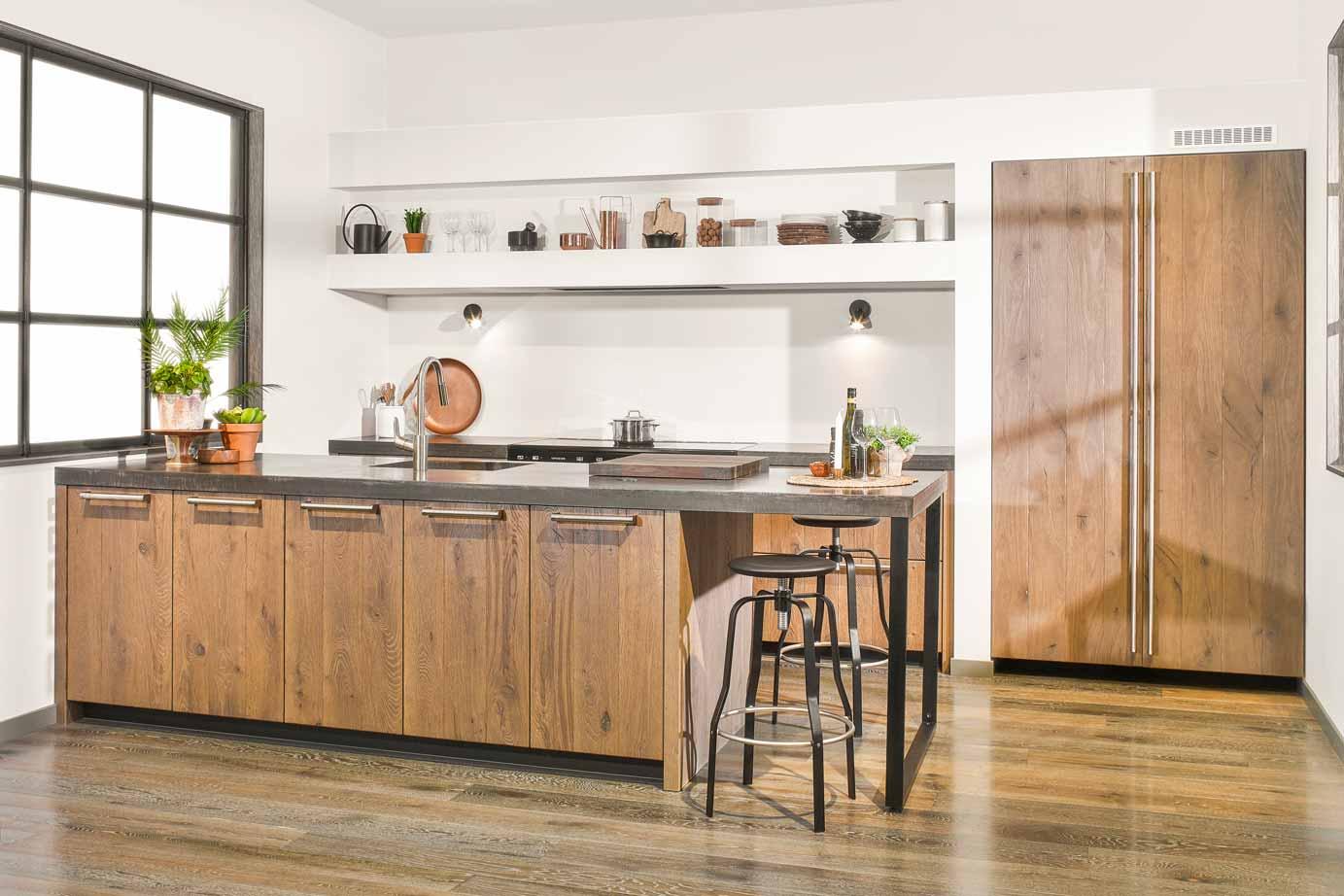 Keuken Van Hout : Keuken wit met hout