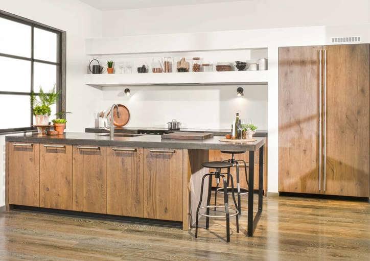 Houten keuken voor elk budget en stijl ook met wit db keukens - Keuken steen en hout ...