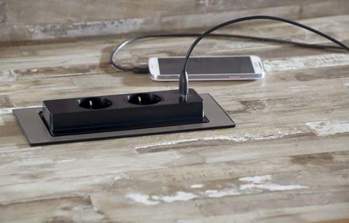 Super Stopcontact in werkblad / aanrechtblad AX-48