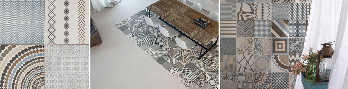 Goedkope Designradiator Keuken : Vintage patchwork tegels voor wand en vloer