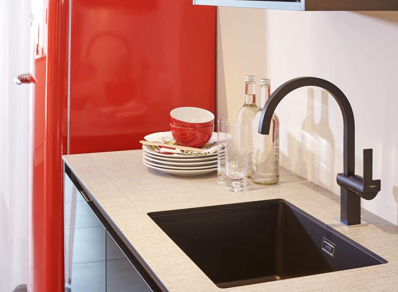 Moderne Keuken Met Spoelbak : Moderne keuken met rode contrasten - DB ...