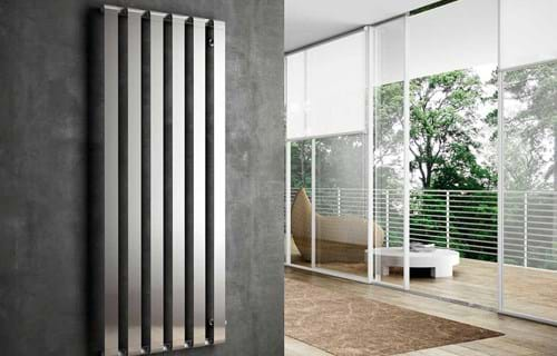 Design radiator in verticale opstelling