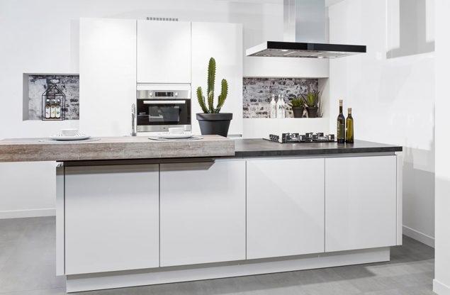 Een keukeneiland of kookeiland lees alles over de indeling db keukens - Idee kleur moderne keuken ...