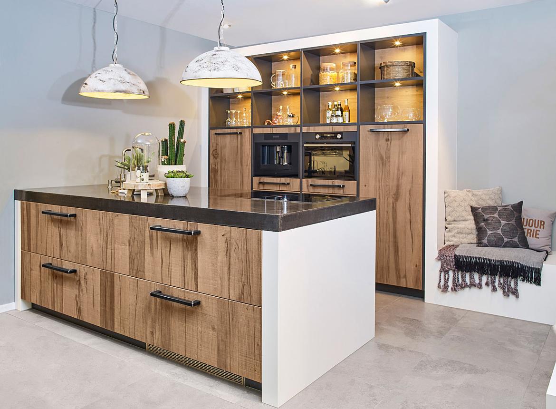 Super Luxe landelijke keuken met eiland in industriële stijl - DB Keukens &OS02