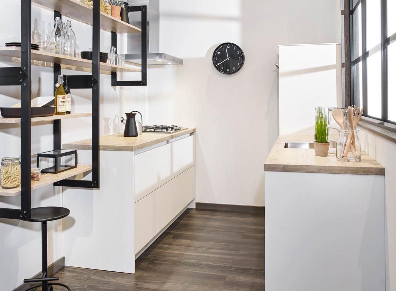Industriële parallel keuken in moderne stijl db keukens