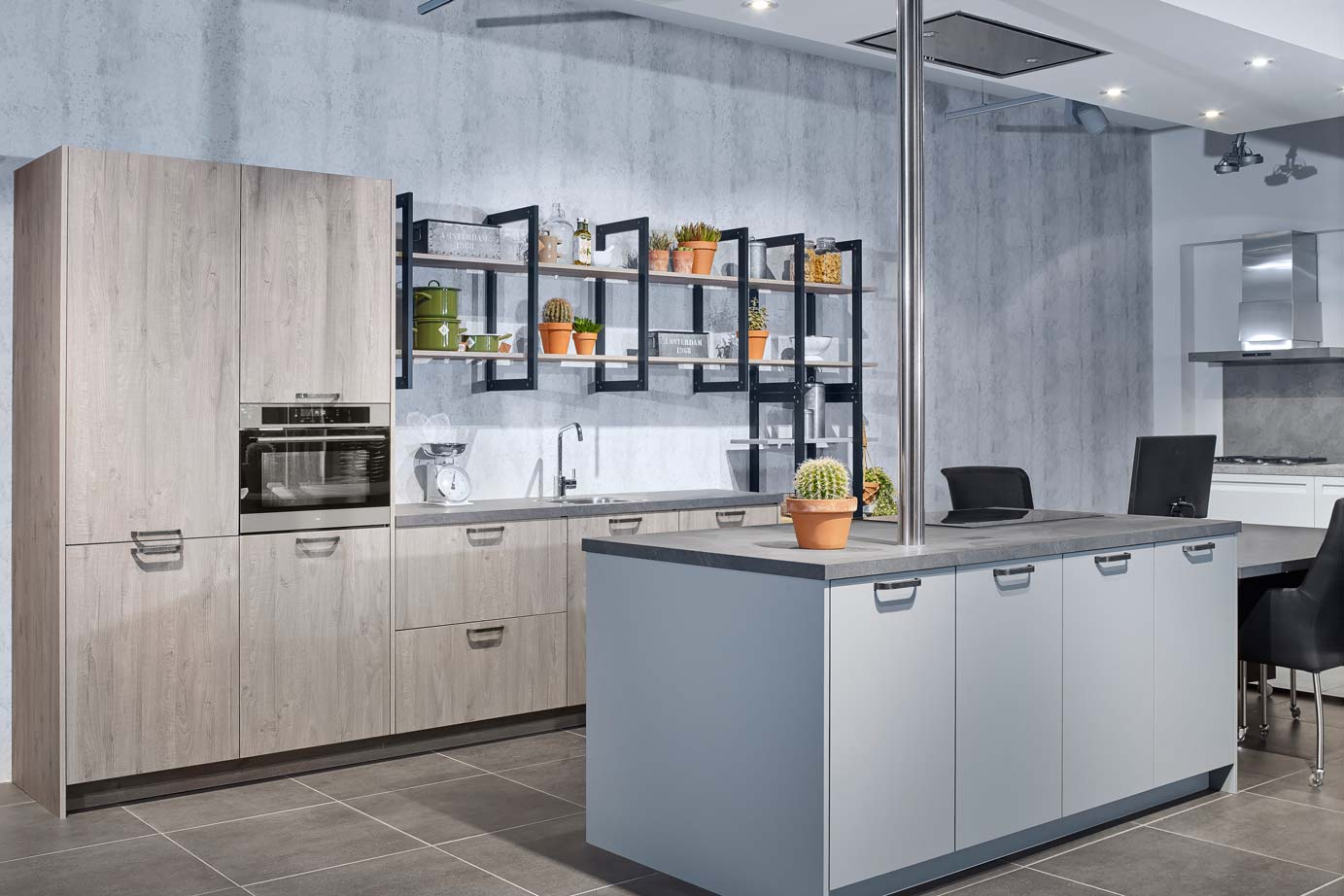 Industrieel Keuken Tegels : Modern industrieel kookeiland bekijk foto s en prijzen db keukens