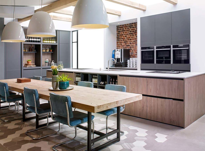 Luxe eilandkeuken met greeploos front bekijk foto 39 s en prijzen db keukens - Centrum eiland keuken ...