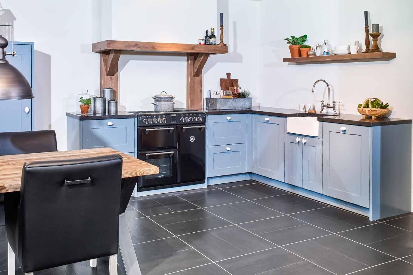Moderne Blauw Keuken : Blauwe landelijke keuken handgemaakt bekijk foto s db keukens