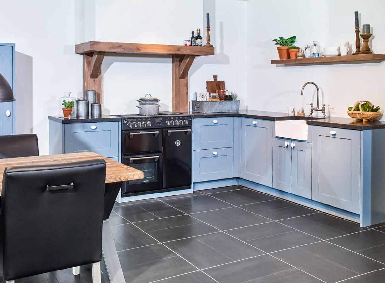 Moderne Blauw Keuken : Blauwe landelijke keuken handgemaakt. bekijk fotos! db keukens