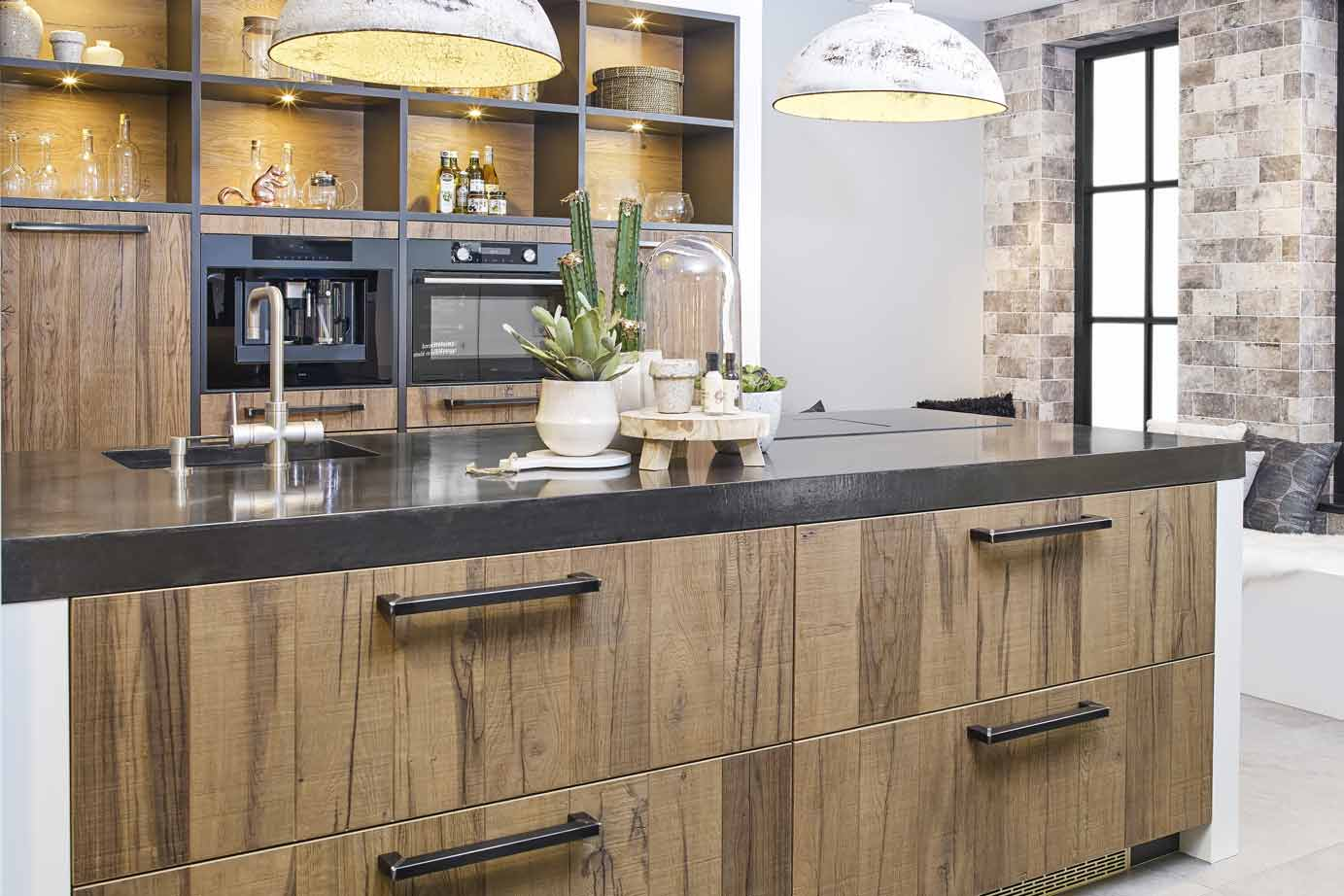 Industriële keuken grove robuuste en stoere materialen db keukens