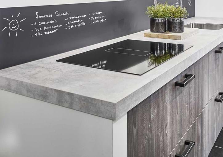 Houten Keuken Beton : Industriële keuken: grove robuuste en stoere materialen db keukens