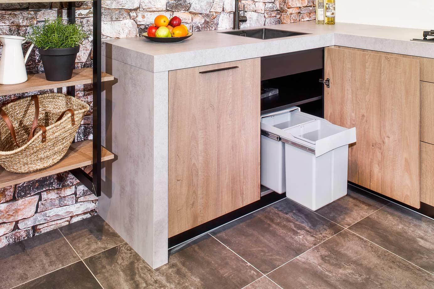 Industriële houten keuken bekijk foto s en prijzen db keukens